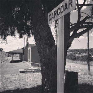 the very lonely, abandoned railway station of Carcoar